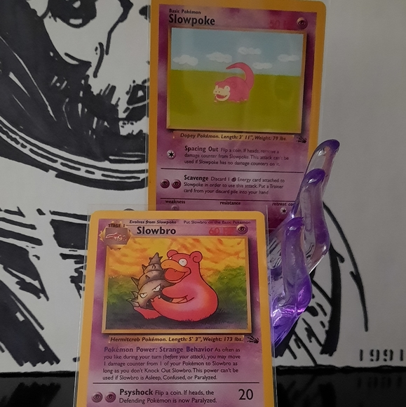 Vintage Slowbro/ Slowpoke Pokemon Cards